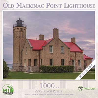 Old Mackinac Point Lighthouse - 1,000 Piece MI Puzzles Jigsaw Puzzle: Toys & Games