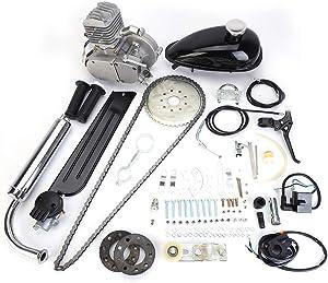 """BEMOFRLAY 80cc 2-Stroke Bicycle Bike Engine Kit Set For Most 24"""" 26"""" or 28' Wheeled Bikes Motorized Motor Bike Petrol Gas Engine"""