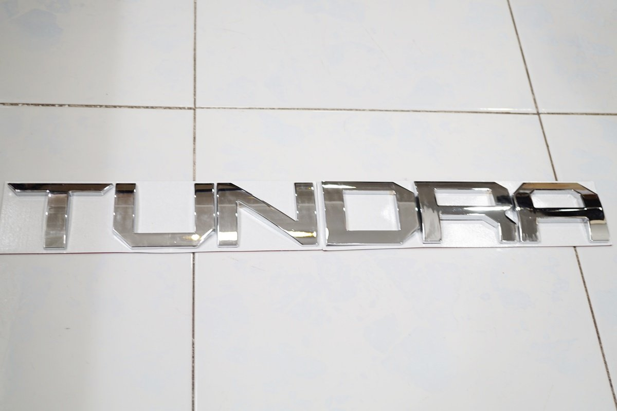 TOYOTA TUNDRA TAILGATE CHROME METAL BADGE EMBLEM INSERT 3D THICK 3.0mm