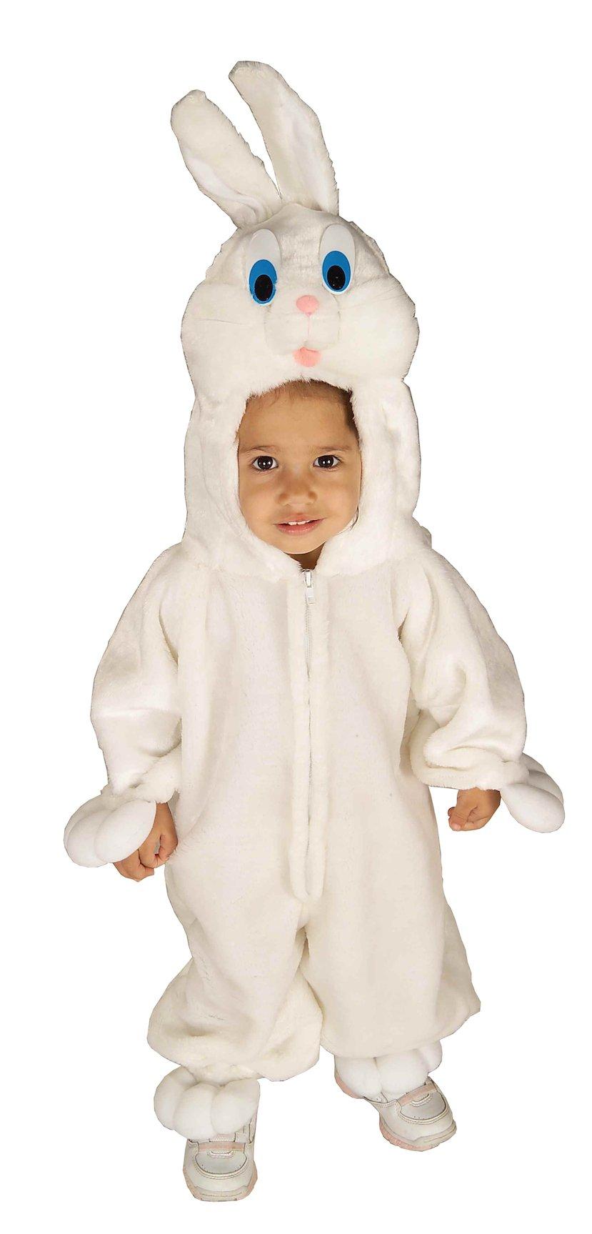 Forum Novelties Baby's Bunny Wabbit Toddler Costume, White