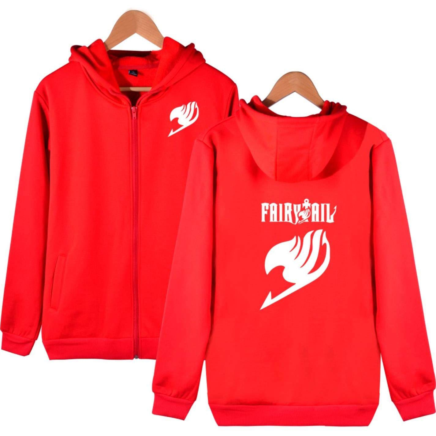 BWWX Harajuku Fairy Tail Print Hooddie Sweatshirt Men Women Zipper Hoodies at Amazon Womens Clothing store: