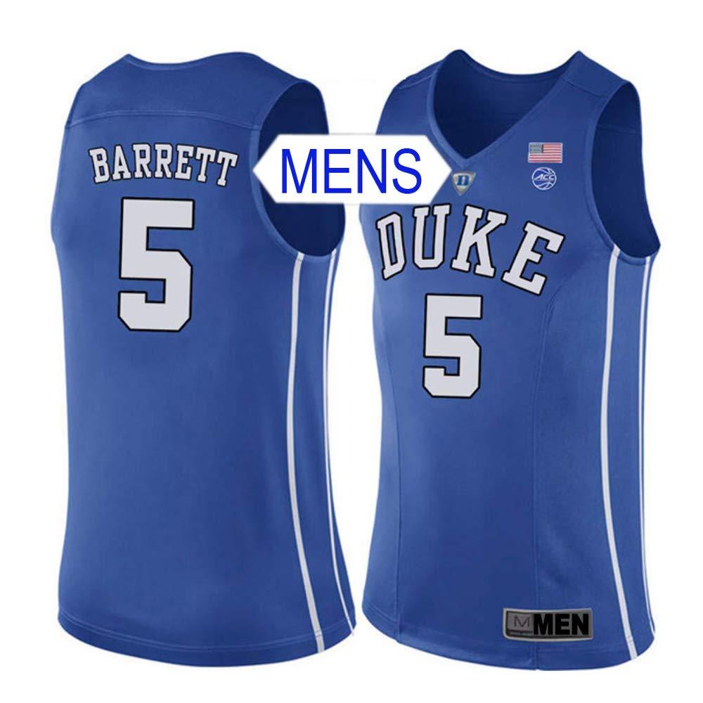 competitive price c6c6e 992e7 Amazon.com: Wealthed RJ Barrett Duke College Stitched Mens ...