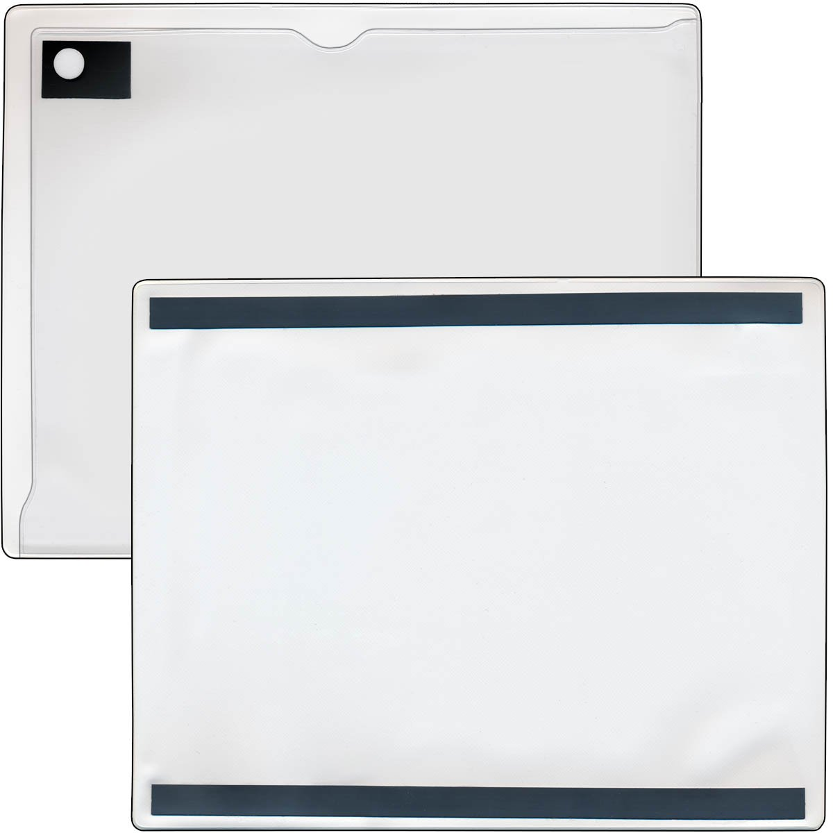 StoreSMART - Magnetic Closure Pocket - Magnetic-Back - 10-Pack - White - 8.5'' x 11'' (MCP8511MB-PQW-10) by STORE SMART