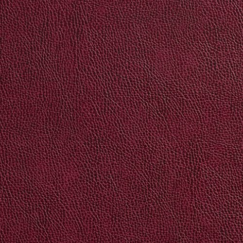 Wine Red Burgundy Animal Hide Texture Plain Recycled Leather Automotive Vinyl Stain Resistant Upholstery Fabric by the yard ()