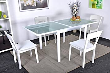 Table Blanche Extensible Laquée ExtendCuisineamp; Maison ARj54L