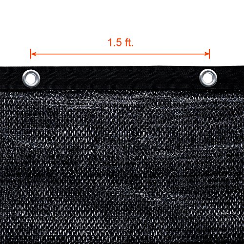 Agfabric 60% Greenhouse Shade Cloth Cover with Grommets 12' X 18', Black by Agfabric (Image #2)