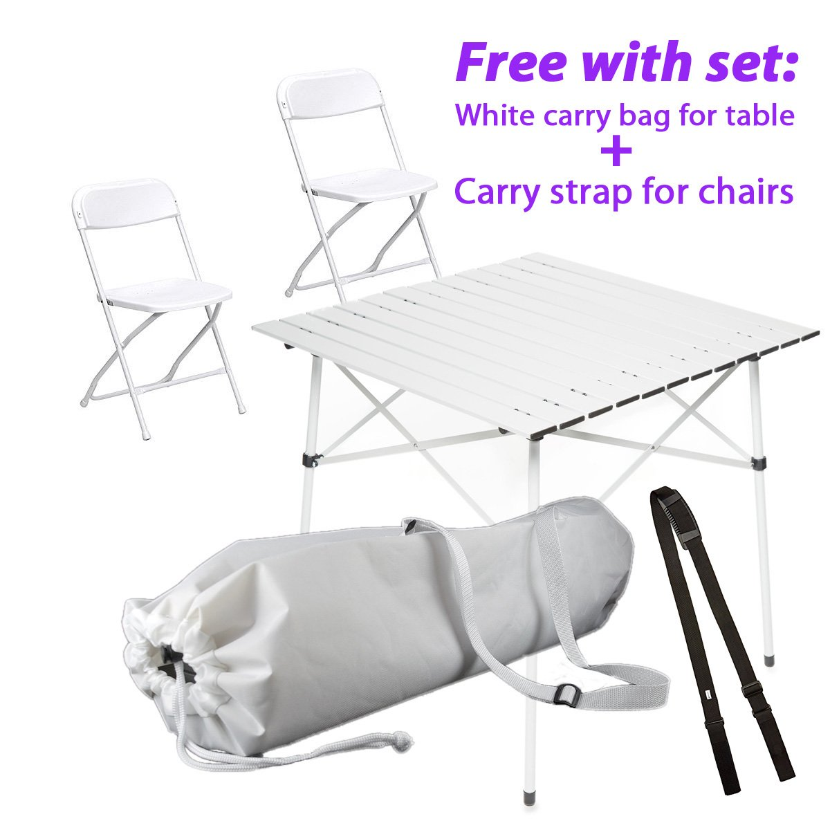 Amazon Com Whiteappeal Folding Table Chairs Package For Diner