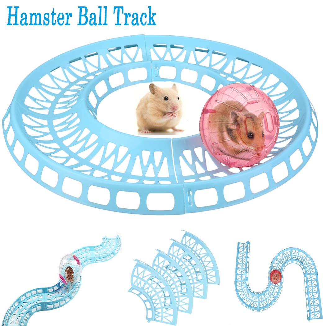 Legendog Hamster Ball track,Hamster Track and Ball Toy/Pet hamster Training Runway/Interactive toy for Hamster Mouse Chinchilla Rat,Random Color