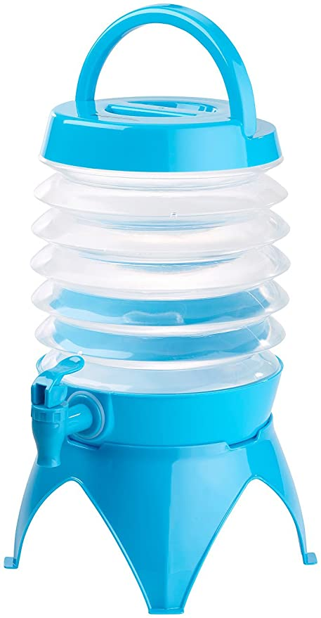 Pearl Bidón de agua: plegable fässchen, grifo, soporte, 3,5 L), color azul/transparente (camping - Bidón de agua): Amazon.es: Hogar