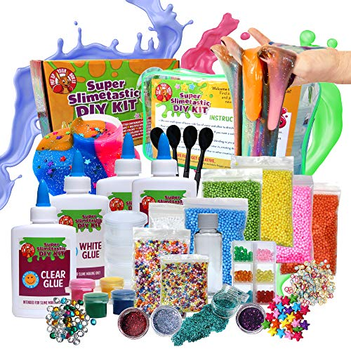 Large DIY Slime Kit for Girls and Boys - Includes 4 Bottles of Glue - Borax - Glow in the Dark - Unicorn Slime - Fluffy Slime - Crunchy Slime - Complete Slime Making Kit  - Slime Kits with Everything]()