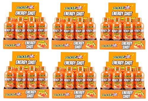 Stacker 2 Energy Shots, Orange Flavor 12pk (6) by STACKER 2