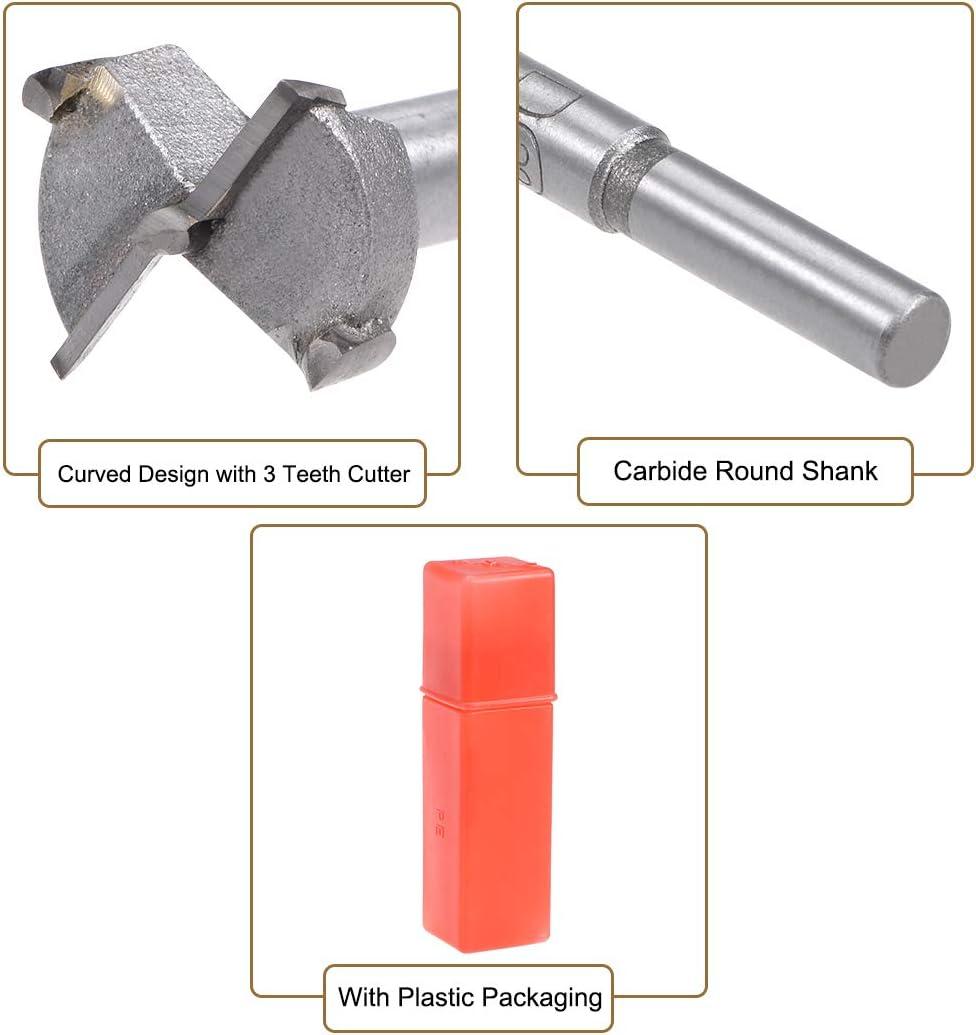 punta de carburo, v/ástago hexagonal, para herramienta CNC de madera contrachapada y madera contrachapada Broca para perforaci/ón de madera Sourcingmap Forstner