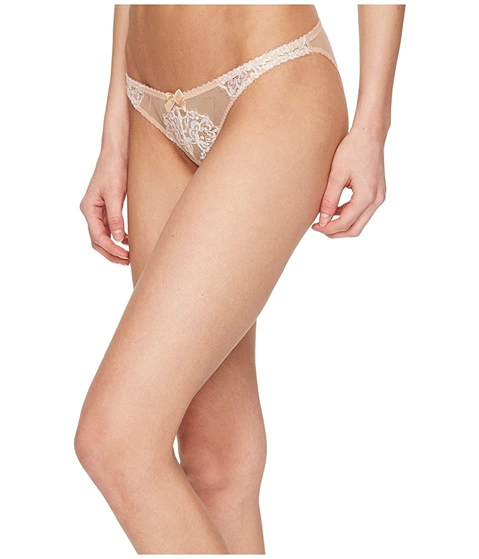 8c8756fbb1 Agent Provocateur L Agent Women s Angelica Mini Brief Nude Ivory Underwear  at Amazon Women s Clothing store