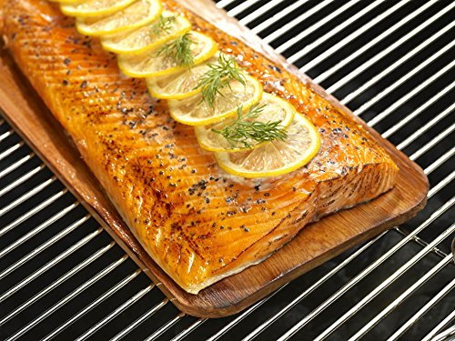 Coastal Cuisine 14 Pack 7x16'' Cedar Grilling Planks + Aluminum Serving Platter – Perfect for any grilling enthusiast.  Enjoy delicious restaurant quality meals and a stunning presentation. by Coastal Cuisine (Image #6)