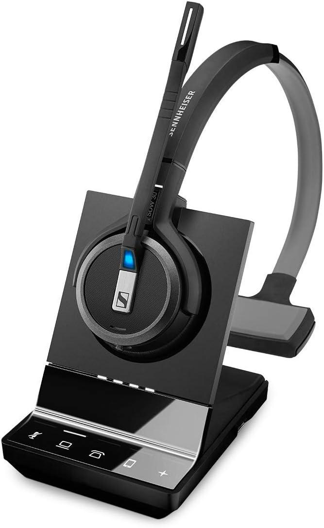 Sennheiser SDW 5035 (506596) - 片面 (モノラル) ワイヤレス デート ヘッドセット デスク ソフトホン PC接続 デュアルマイク 超ノイズキャンセリング ブラック