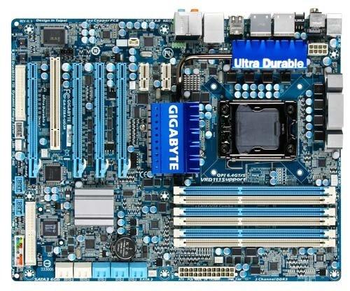 Gigabyte Intel X58/Intel ICH10R Intel X58 ATX DDR3 2200 LGA 1366 Motherboard (GA-X58A-UD3R)