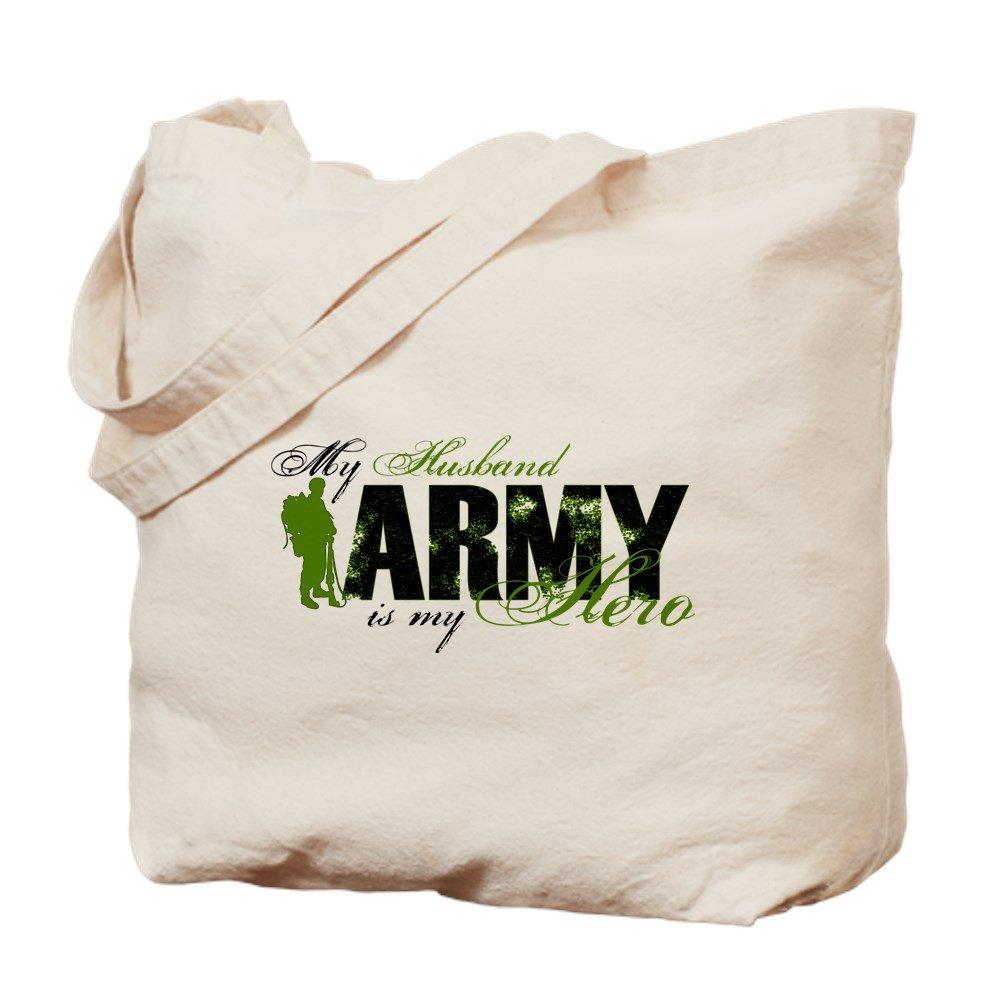 CafePress – 夫hero3 – Army – ナチュラルキャンバストートバッグ、布ショッピングバッグ M ベージュ 0572668520E9484 B07BCR32WG M