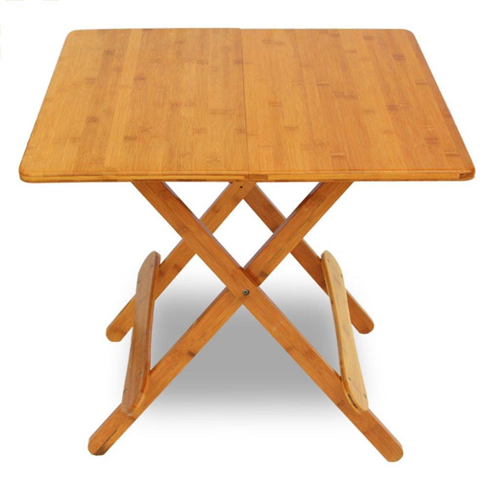 grandes ofertas 60cm Folding table LVZAIXI Mesa Plegable de de de Madera Maciza Cuadrada, Mesa de Estudio de Lectura Interior, Mesa de la Sala de EEstrella (Tamaño   80cm)  ahorre 60% de descuento