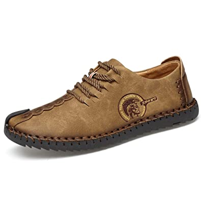 1a8ab2e6cdda8 Times New Roman Men's Slip-On Loafers Casual Leather Shoes 7.5 US, A Coffee