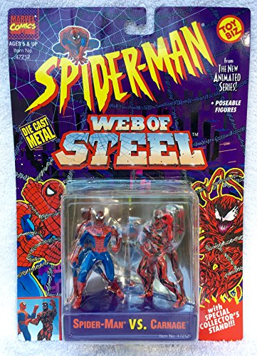 (Spiderman Web Of Steel Die Cast Metal Collectible Figures - Spiderman vs)