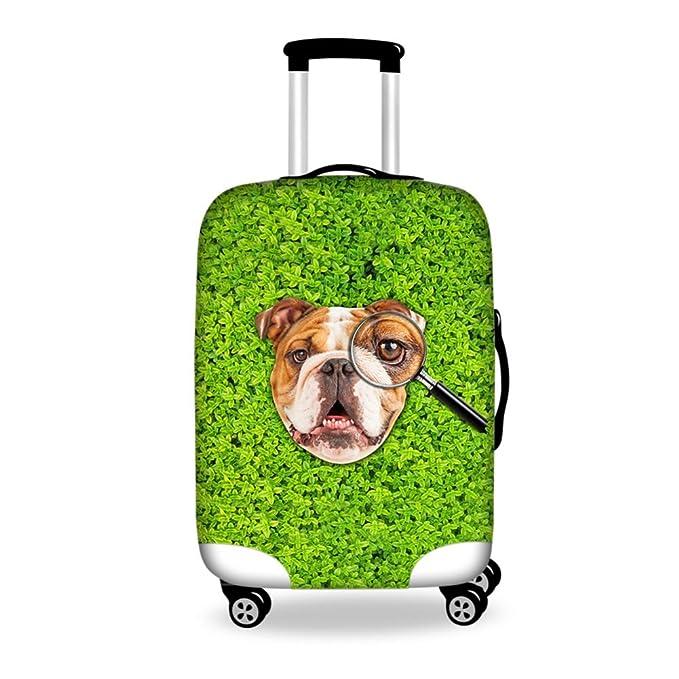 "b0c2700e0 Coloranimal Cute Bulldog Women's Travel Luggage Protective Covers for  18"" 20"" ..."