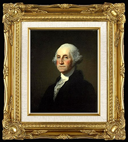 Portrait Painting of George Washington Framed Print