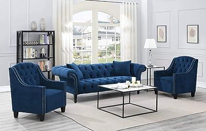 Magnificent Amazon Com Mollai Collection 3 Pc Sofa 2 Chairs Spiritservingveterans Wood Chair Design Ideas Spiritservingveteransorg