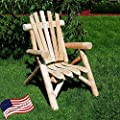 Lakeland Mills Classic Cedar Log Adirondack Chair
