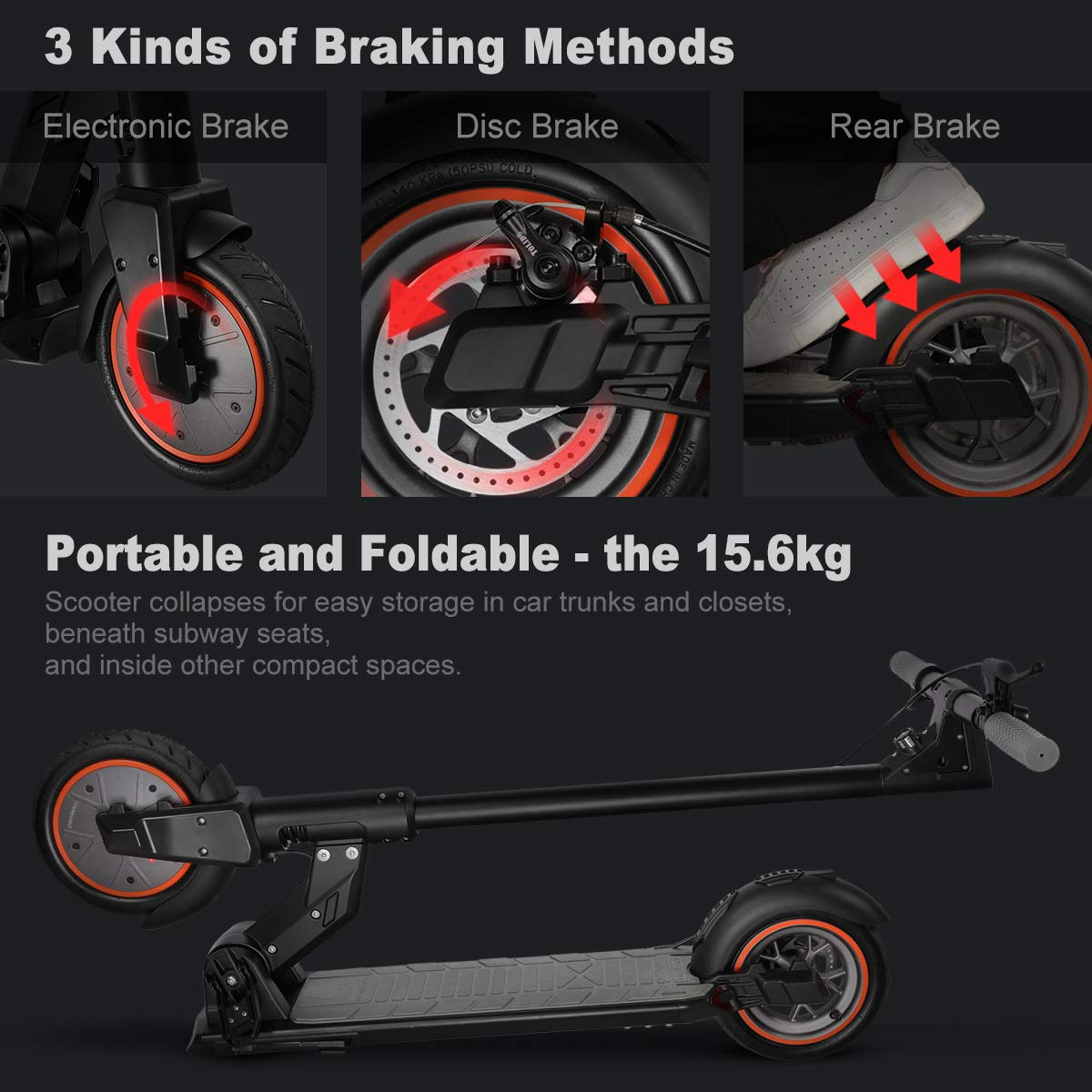 urbetter Kugoo M2 Pro Folding Electric Scooters Adults 350W Motor,3 Speed Adjustment Modes,LCD Display Screen 8.5 inches Solid Tires,18.6Miles Long Range Electric Kick Scooter with LED Light
