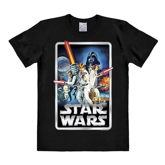 Logoshirt Camiseta La Guerra de Las Galaxias - Póster - Camiseta Star Wars  - Poster - Camiseta con Cuello Redondo Negro - Diseño Original con  Licencia  ... 5258f5ae4a5c2