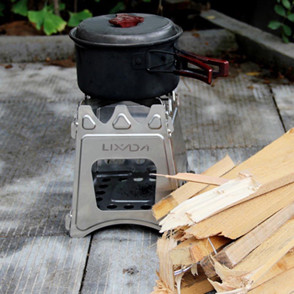 Lixada Estufa de Leña Compacto Plegable para Cámping Cocina Picnic Al Aire Libre: Amazon.es: Jardín