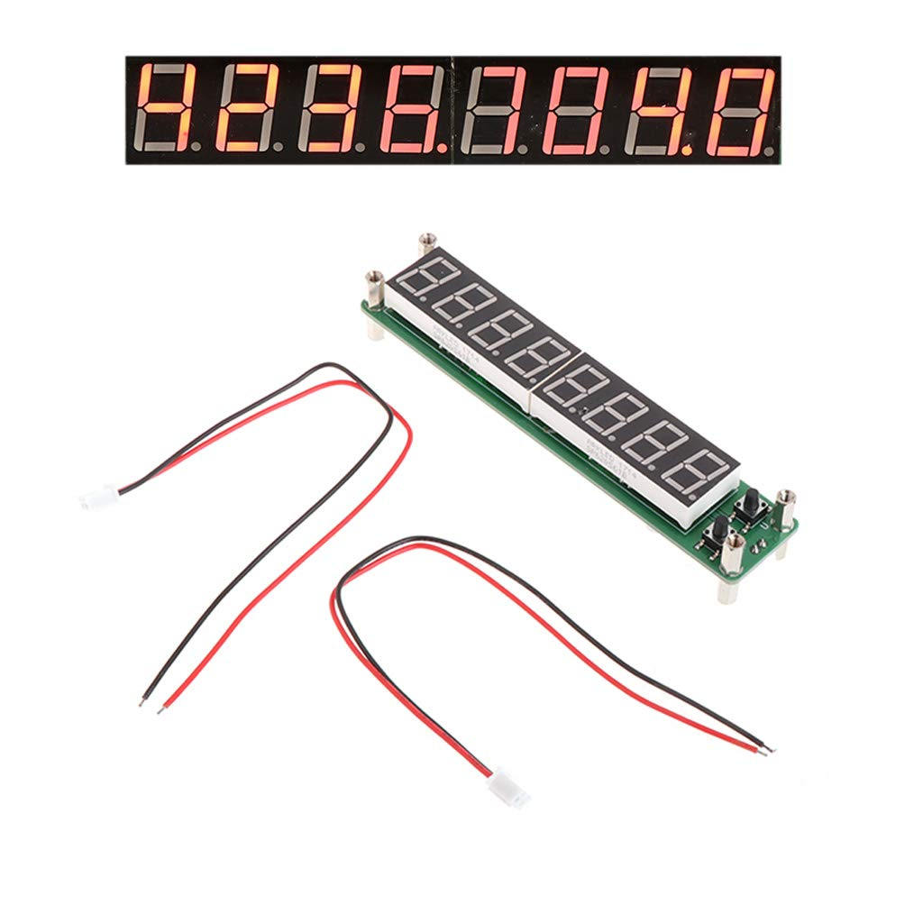 LED Singal Frequency Counter 0.1-60MHz 20MHz-2.4GHz RF 8 Digit LED Singal Frequency Counter Cymometer Tester by LOLOVI