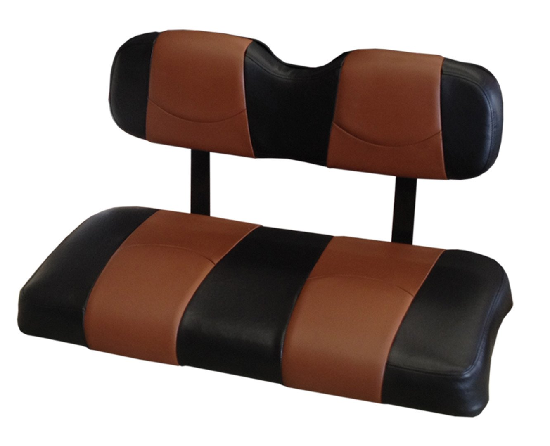 Koolクッションezgotxt-bksadbrst-01-customビニールゴルフカートのシートカバーフロントonly-blackサドルブラウンストライプ – For ez-go TXT Golf Cart   B00UV1PQP2