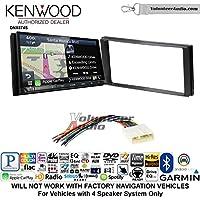 Volunteer Audio Kenwood DNX874S Double Din Radio Install Kit with GPS Navigation Apple CarPlay Android Auto Fits 2014-2015 Subaru Forester, 2012-2014 Subaru Impreza