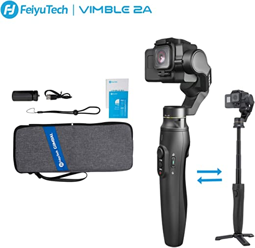 FeiyuTech Vimble 2A 3-Axis Handheld Gimbal Stabilizer for GoPro Action Camera,Extension Pole Tripod Stick for Gopro Hero 7/6/5/4, SJCAM
