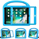 eTopxizu Shockproof Case Light Weight Kids Case for New iPad 9.7 2018/2017,iPad 9.7 Inch 2018 & 2017 Shockproof Case Super Protection Cover Handle Stand Case for Children - Blue