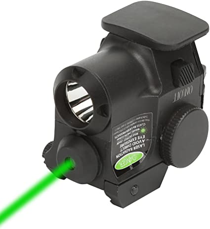 Tactical Green Laser Light Combo Sight Rifle Pistol Compact Picatinny Mount