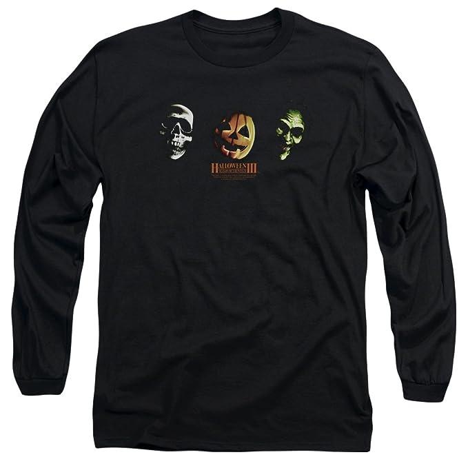 Halloween III Horror Slasher película serie tres máscaras Adultos Camiseta de manga larga: Amazon.es: Ropa y accesorios