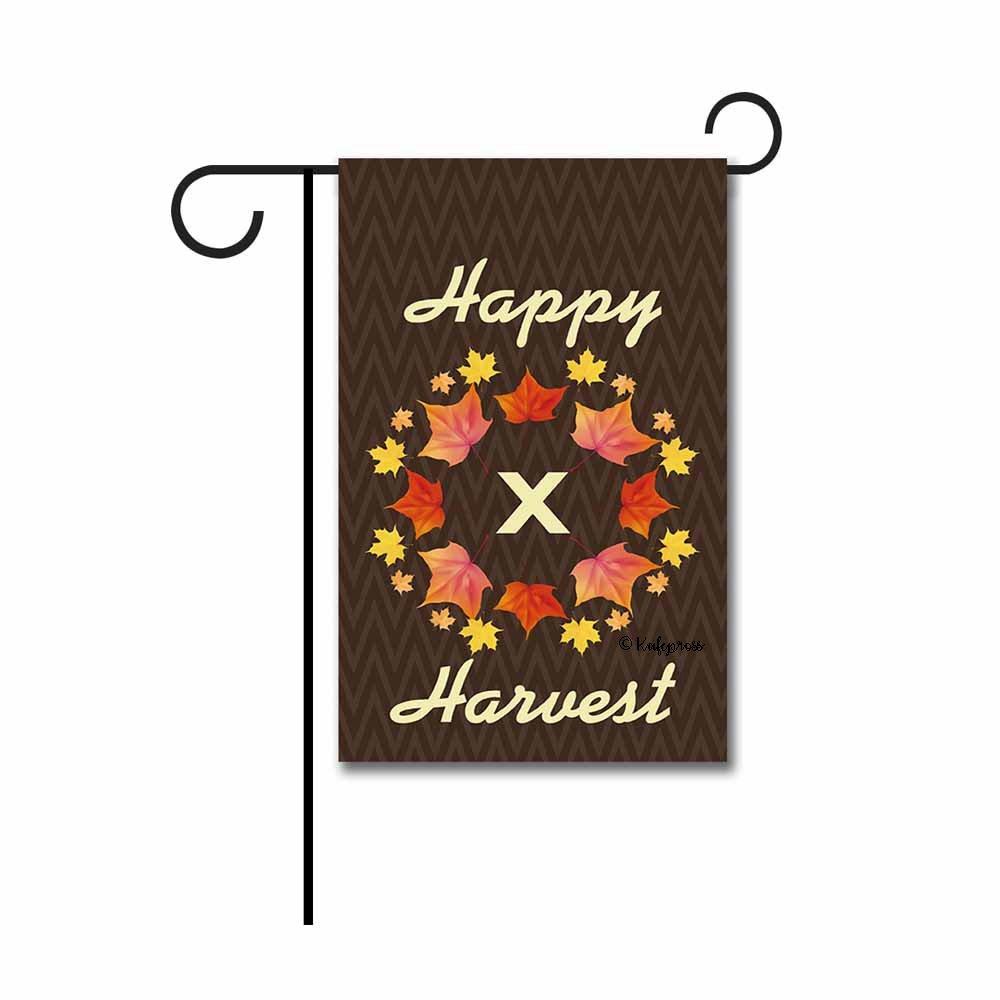 Amazon.com : Kafepross Happy Harvest Maple Leaf Monogram X Garden ...