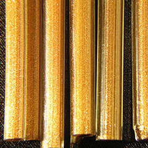 Devardi Glass Lampwork Glass Rods, Clear Encased Goldstone, 1/4 lb