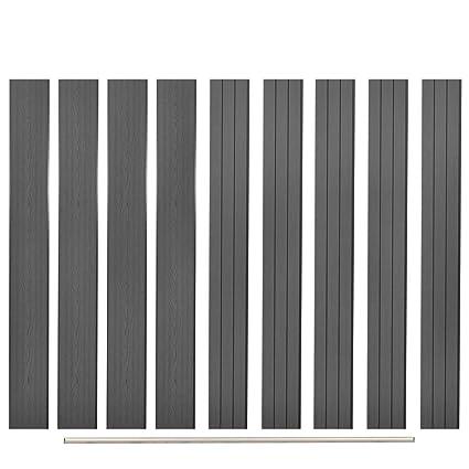 Panneau de clôture de Remplacement Gris 170 cm clôture Bois ...