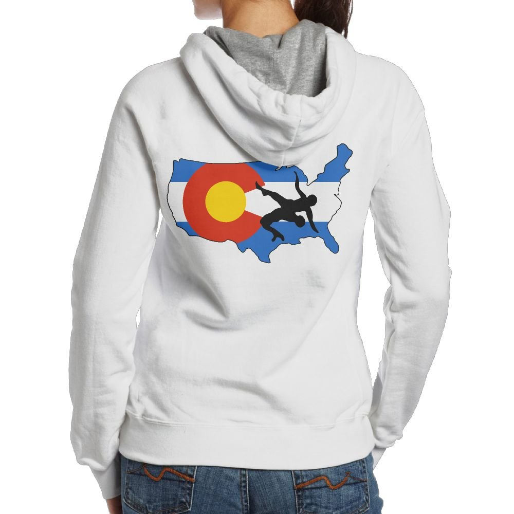 Praygood11 Colorado USA Wrestling Women's Pullover Hoodie Active Jersey,Back Print