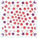 Nail Art Sticker Girls Fashion Costume Party Accessory Favour and Prize Giveaway, Pack of 100.
