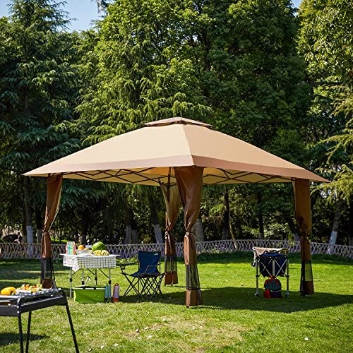 Suntime Outdoor Gazebo Canopy Party Wedding Tent No Netting sidewall