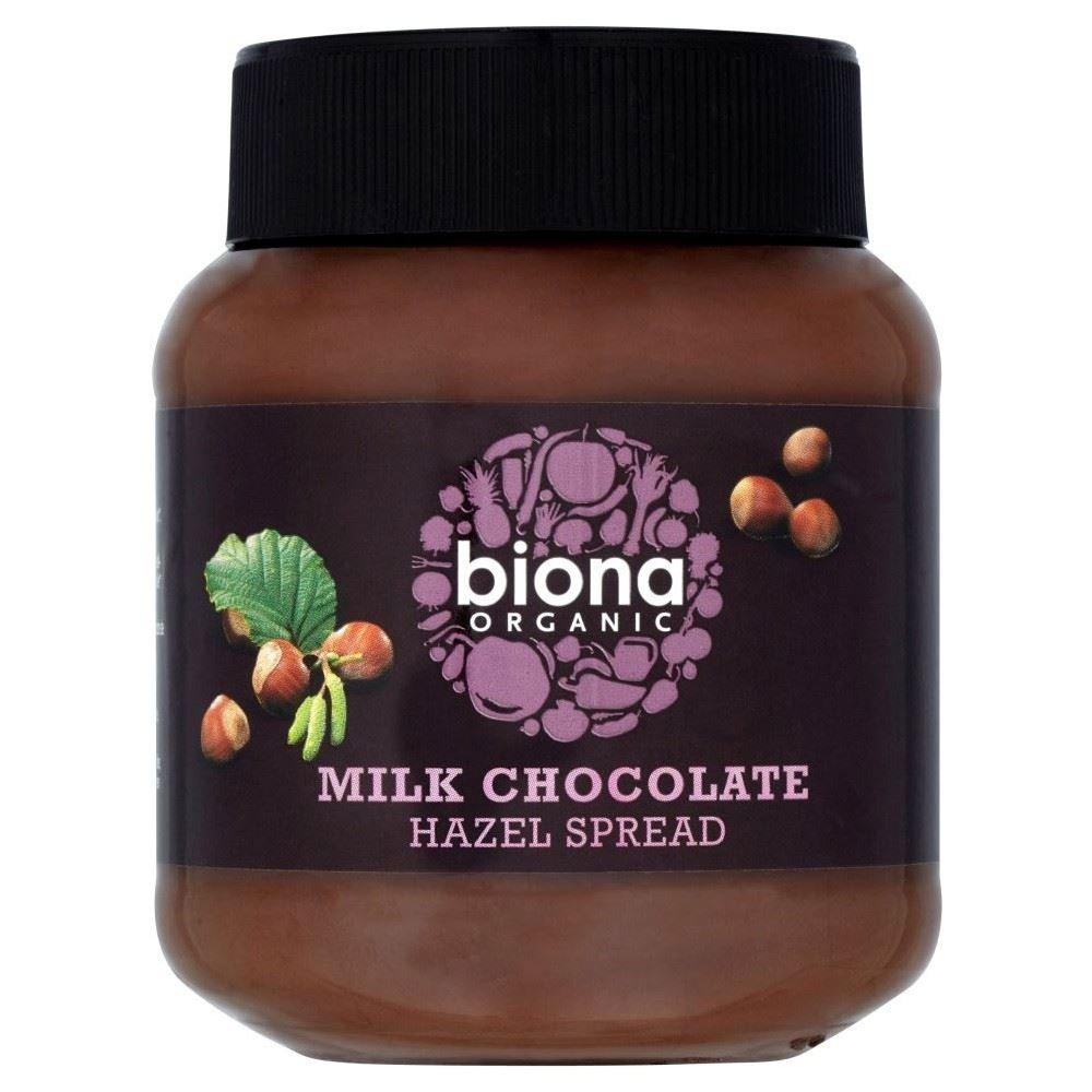 Biona Organic Milk Chocolate Hazelnut Spread (350g) - Pack of 2 by Biona Organic