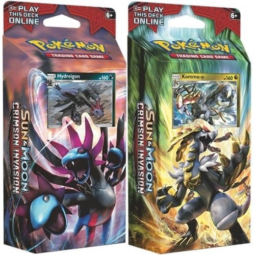 Pokemon TCG: BOTH Sun and Moon Crimson Invasion Theme Decks - Hydreigon & Kommo-o (New November 2017) by Pokémon