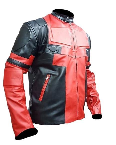 SleekHides Mens DP Motorcycle Leather Jacket