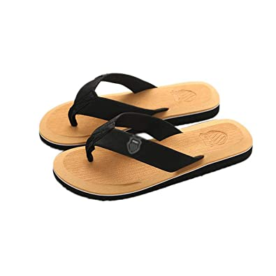 Amazon.com | Mens Beach Flip Flops Slippers 2019 New SummerCasual Shoes Outdoor Beach Zapatillas de Hombre 6 Colors Slippers for Male#3C, Yellow, 8, ...