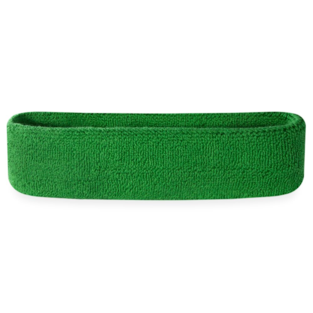 Suddora Sweatband/Headband - Terry Cloth Athletic Basketball Head Sweat Bands (Green) by Suddora