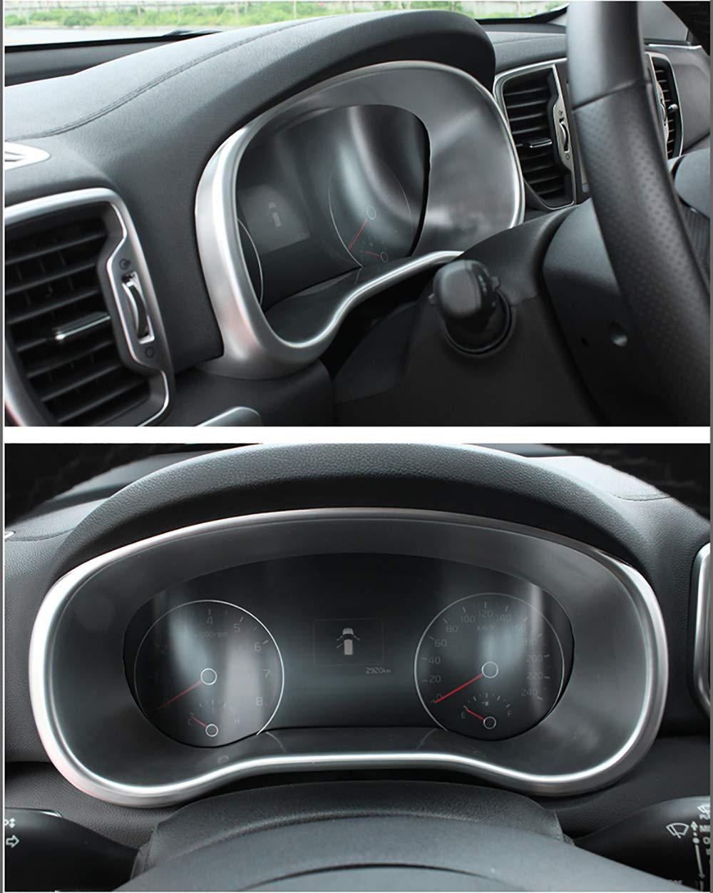 kadore para 2016-2019 Kia Sportage Car Piezas modificadas Interior Centro Consola Tablero de Instrumentos Panel de Instrumentos Cubierta Ajuste 1pc